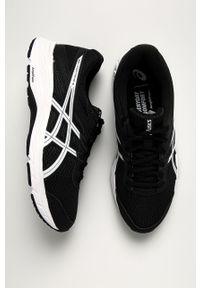 Czarne sneakersy Asics z cholewką, na sznurówki, z okrągłym noskiem