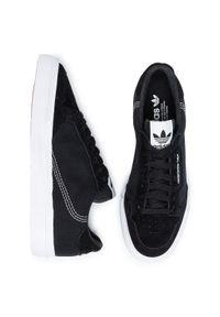 Czarne półbuty Adidas casualowe, na co dzień