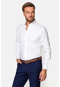 Lancerto - Koszula Biała Ingrid. Okazja: na co dzień. Kolor: biały. Materiał: bawełna, tkanina. Wzór: haft. Styl: klasyczny, casual