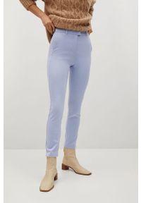 Niebieskie spodnie materiałowe mango gładkie