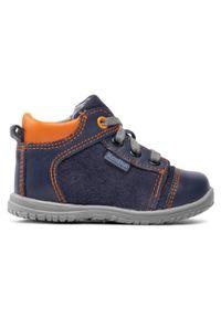 RenBut - Trzewiki RENBUT - 13-1442 Granat/Pomarańcz. Kolor: niebieski. Materiał: skóra, zamsz. Szerokość cholewki: normalna. Sezon: zima #3