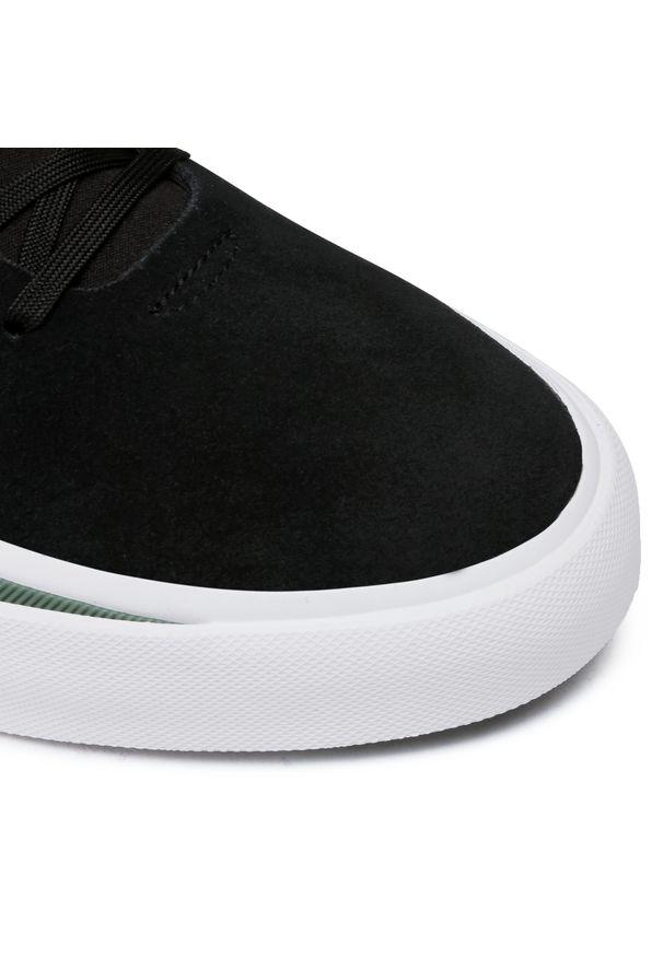 Czarne półbuty Adidas eleganckie, z cholewką, na co dzień