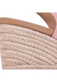 Różowe sandały Ugg na co dzień, casualowe, z aplikacjami