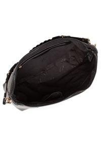 Jenny Fairy - Torebka JENNY FAIRY - RX0764 Black. Kolor: czarny. Materiał: skórzane. Styl: klasyczny, casual