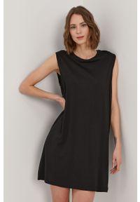 Czarna sukienka Noisy may bez rękawów, casualowa