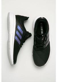 Czarne buty sportowe adidas Performance Adidas Cloudfoam, z okrągłym noskiem, na niskim obcasie