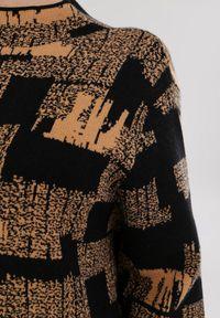 Born2be - Beżowa Sukienka Dzianinowa Sheilee. Kolor: beżowy. Materiał: dzianina. Długość rękawa: długi rękaw. Wzór: jednolity. Typ sukienki: proste. Długość: mini