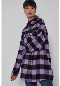 medicine - Medicine - Koszula bawełniana Denim Days. Okazja: na co dzień. Kolor: fioletowy. Materiał: bawełna, denim. Długość rękawa: długi rękaw. Długość: długie. Styl: casual