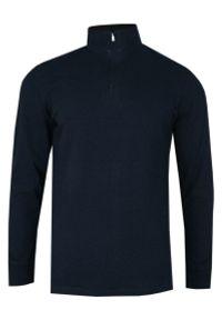 Niebieski t-shirt Chiao z długim rękawem, długi