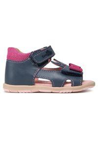 RenBut - Sandały RENBUT - 11-1557 Jeans 1. Kolor: niebieski. Materiał: skóra. Wzór: aplikacja #4