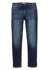 Niebieskie jeansy bonprix z obniżonym stanem