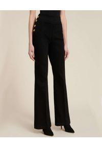 Luisa Spagnoli - LUISA SPAGNOLI - Czarne jeansy typu palazzo Olivo. Stan: podwyższony. Kolor: czarny