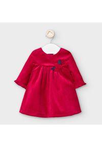 Mayoral Sukienka elegancka 2862 Czerwony Regular Fit. Kolor: czerwony. Styl: elegancki