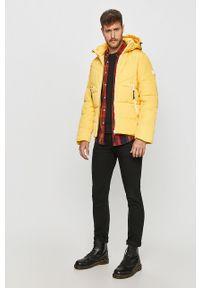 Żółta kurtka Tom Tailor Denim na co dzień, z kapturem