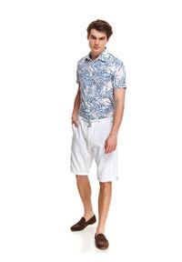 Białe szorty TOP SECRET casualowe, w kolorowe wzory, na co dzień, na lato