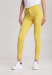 Renee - Żółte Spodnie Skinny Abalaeno. Kolor: żółty