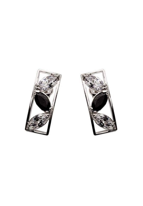 Polcarat Design - Srebro cyrkonie kolczyki K 889. Materiał: srebrne. Kamień szlachetny: cyrkonia
