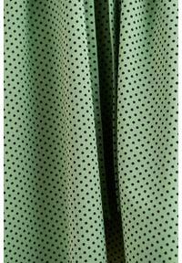 Marie Zélie - Sukienka Anastazja zieleń wiosenna w kropeczki 40 zielony. Kolor: zielony. Materiał: dzianina, elastan, skóra, materiał, bawełna. Sezon: wiosna. Typ sukienki: rozkloszowane. Styl: klasyczny