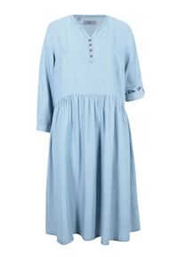 Niebieska sukienka bonprix koszulowa