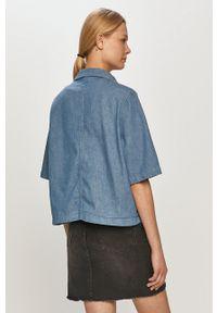 Lee - Koszula. Okazja: na co dzień. Kolor: niebieski. Materiał: bawełna. Długość rękawa: krótki rękaw. Długość: krótkie. Styl: casual