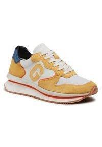 Guess Sneakersy Made FM5RUN FAB12 Żółty. Kolor: żółty. Sport: bieganie