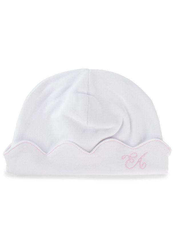 Biała czapka zimowa Emporio Armani