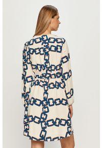 Beżowa sukienka Morgan mini, na co dzień, prosta