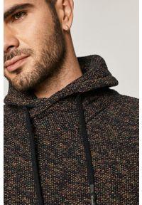 Brązowy sweter medicine melanż, casualowy, z golfem, na co dzień