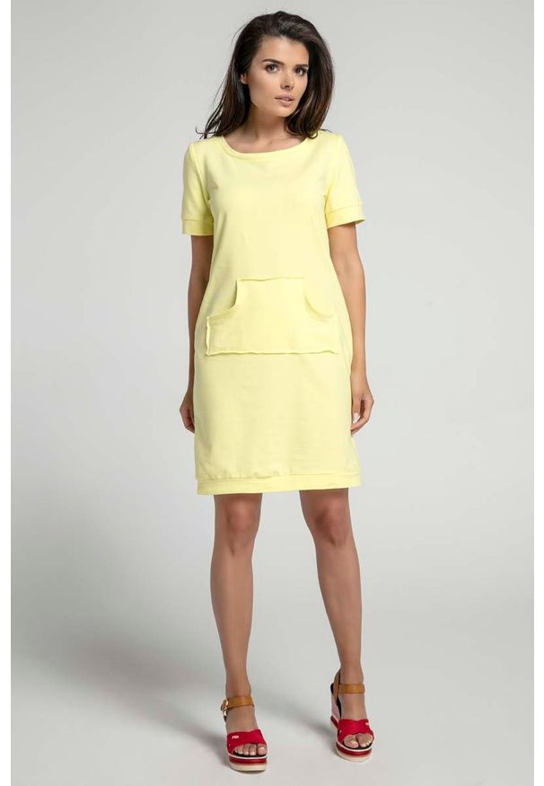 Żółta sukienka Nommo sportowa, sportowa