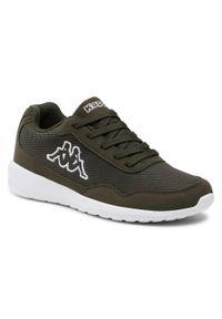 Kappa - Sneakersy KAPPA - Follow 242495 Army/White 3110. Okazja: na co dzień. Kolor: zielony. Materiał: materiał. Szerokość cholewki: normalna. Sezon: lato. Styl: casual