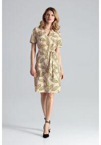 e-margeritka - Sukienka ołówkowa do biura - l. Okazja: do pracy, na spotkanie biznesowe. Materiał: poliester, materiał, elastan. Typ sukienki: ołówkowe. Styl: biznesowy. Długość: midi