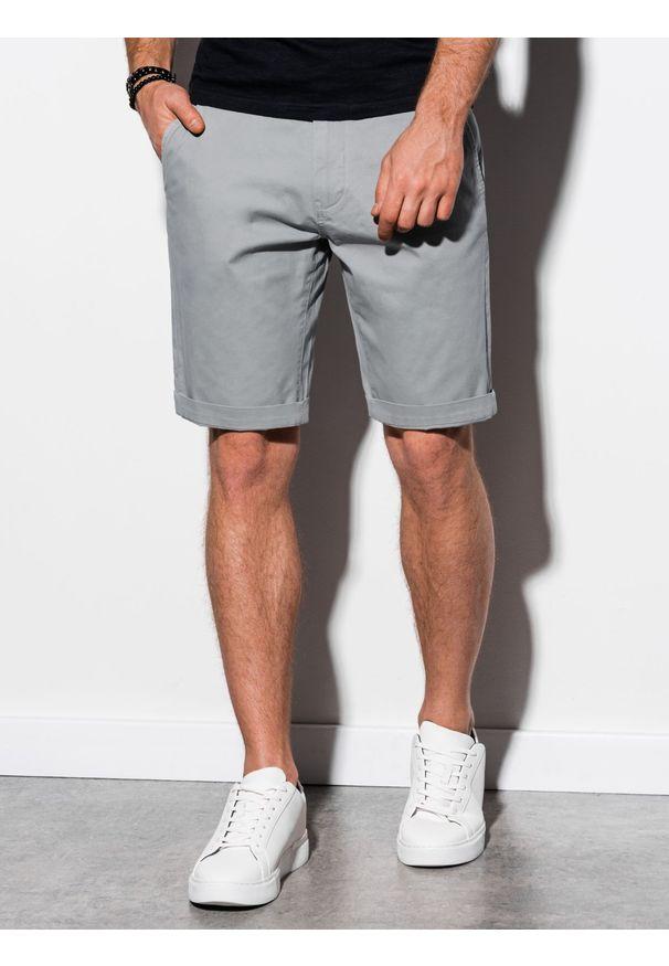 Szare szorty Ombre Clothing krótkie, na co dzień