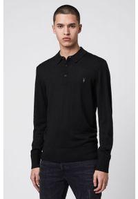 Czarny sweter AllSaints casualowy, na co dzień, polo