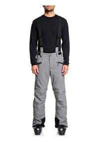Quiksilver Spodnie snowboardowe Boundry Plus EQYTP03114 Szary Modern Fit. Kolor: szary. Sport: snowboard