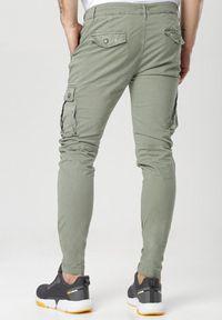 Born2be - Khaki Spodnie Hylle. Kolor: brązowy. Materiał: tkanina. Długość: długie. Wzór: aplikacja