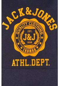 Niebieska bluza nierozpinana Jack & Jones z kapturem, na co dzień