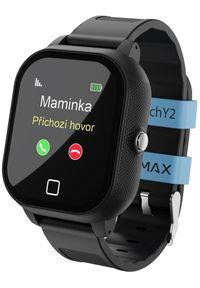 Czarny zegarek LAMAX smartwatch