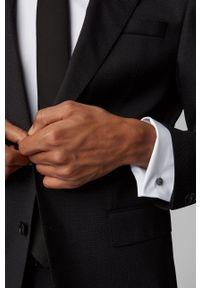 BOSS - Boss - Koszula bawełniana. Typ kołnierza: kołnierzyk włoski. Kolor: biały. Materiał: bawełna. Długość rękawa: długi rękaw. Długość: długie