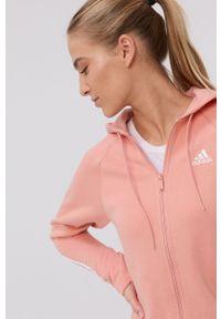 adidas Performance - Dres. Kolor: różowy. Materiał: dresówka
