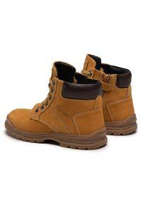 Żółte buty zimowe Geox