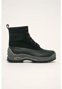 Czarne buty trekkingowe Napapijri trekkingowe, na sznurówki, z cholewką