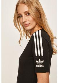 adidas Originals - T-shirt. Kolor: czarny. Materiał: dzianina