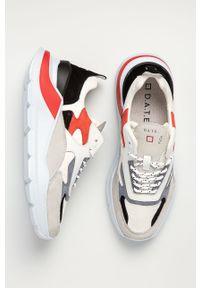 Białe sneakersy D.A.T.E. na sznurówki, z cholewką