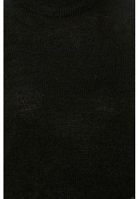 Czarny sweter Jacqueline de Yong długi, z długim rękawem