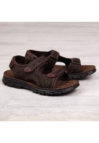 Brązowe sandały American Club na rzepy