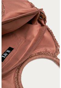 Różowa torba plażowa ANSWEAR na ramię, wakacyjna