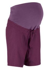 Fioletowe spodnie bonprix moda ciążowa, na lato
