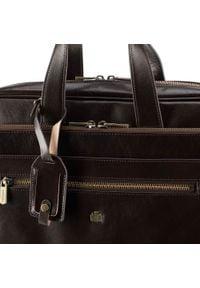 """Wittchen - Torba na laptopa 15,6"""" skórzana z dużą kieszenią. Kolor: brązowy. Materiał: skóra. Styl: klasyczny, elegancki, retro"""