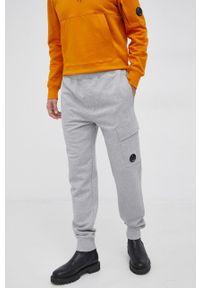 C.P. Company - Spodnie. Kolor: szary. Materiał: dzianina