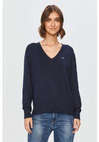 Niebieski sweter Tommy Jeans casualowy, na co dzień